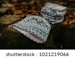 kid cotton hat and tube scarf | Shutterstock . vector #1021219066