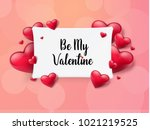 2018 valentine's day background ... | Shutterstock .eps vector #1021219525