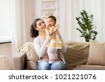 family  child and motherhood... | Shutterstock . vector #1021221076