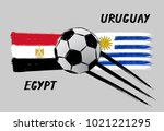 flags of egypt and uruguay  ...   Shutterstock .eps vector #1021221295