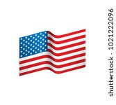 usa flag isolated | Shutterstock .eps vector #1021222096