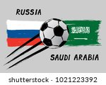 flags of russia and saudi... | Shutterstock .eps vector #1021223392