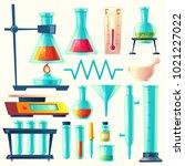 vector cartoon laboratory... | Shutterstock .eps vector #1021227022