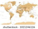 political vintage golden world... | Shutterstock .eps vector #1021246126