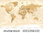 political vintage golden world... | Shutterstock .eps vector #1021246132