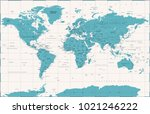 political vintage world map... | Shutterstock .eps vector #1021246222