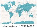 political vintage world map... | Shutterstock .eps vector #1021246222