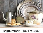 composition with homemade... | Shutterstock . vector #1021250302