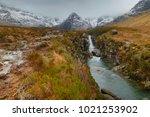 highlands of scotland landscape ...   Shutterstock . vector #1021253902