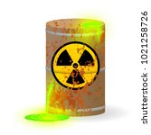 chemical radioactive waste in a ... | Shutterstock .eps vector #1021258726