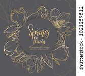 floral background. hand drawn... | Shutterstock .eps vector #1021259512