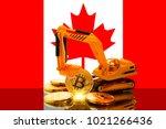 bitcoin mining concept ... | Shutterstock . vector #1021266436