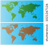 world map illustration | Shutterstock .eps vector #1021267126