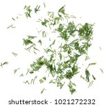 Dill Chopped Top View On A...