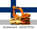 bitcoin mining concept ... | Shutterstock . vector #1021273726