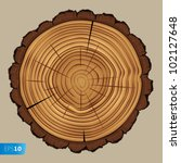 cross section of tree stump... | Shutterstock .eps vector #102127648