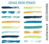 modern watercolor daubs set ... | Shutterstock .eps vector #1021304686