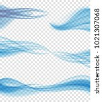 abstract blue wave on... | Shutterstock .eps vector #1021307068