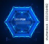 futuristic graphic user... | Shutterstock .eps vector #1021316482