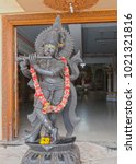 Small photo of Statue of Hindu deity in the temple