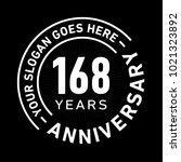 168 years anniversary logo... | Shutterstock .eps vector #1021323892