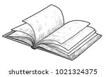 open book illustration  drawing ... | Shutterstock .eps vector #1021324375