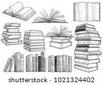 book collection illustration ... | Shutterstock .eps vector #1021324402