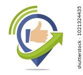 logo icon for communication... | Shutterstock .eps vector #1021324435