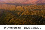 aerial drone view of a mountain ... | Shutterstock . vector #1021330372