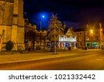the high street and market... | Shutterstock . vector #1021332442