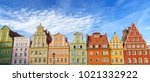 colorful houses in old town in...   Shutterstock . vector #1021332922