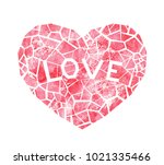 red cracked heart with the word ... | Shutterstock . vector #1021335466