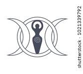 vector illustration for wiccan... | Shutterstock .eps vector #1021339792