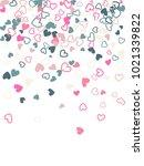 heart shape outline love... | Shutterstock .eps vector #1021339822