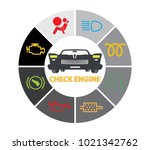 set of multiple car instrument... | Shutterstock .eps vector #1021342762