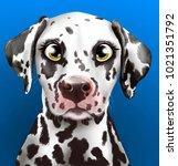 hand drawn portrait of a... | Shutterstock . vector #1021351792