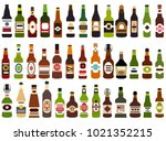 vector set of abstract alcohol... | Shutterstock .eps vector #1021352215