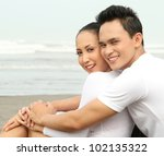 close up portrait of a happy... | Shutterstock . vector #102135322