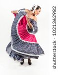mexican folkloric dance the... | Shutterstock . vector #1021362982
