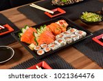 japanese food on to go package | Shutterstock . vector #1021364476