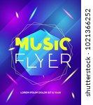 modern club music neon beats...   Shutterstock .eps vector #1021366252