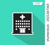 hospital icon cross building...   Shutterstock .eps vector #1021367365