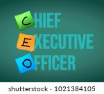 chief executive officer sign on ... | Shutterstock .eps vector #1021384105