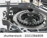 view on automotive equipment... | Shutterstock . vector #1021386808