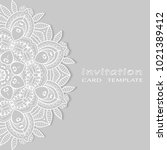 invitation or card template...   Shutterstock .eps vector #1021389412