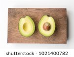 directly above view of avocado... | Shutterstock . vector #1021400782