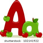 Illustration Featuring the Letter A - stock vector
