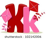 Illustration Featuring the Letter K - stock vector