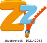 Illustration Featuring the Letter Z - stock vector