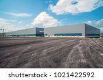 modern factory buildings and... | Shutterstock . vector #1021422592